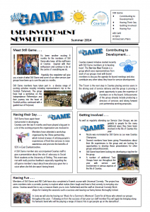 Still Game Summer Newsletter 2014