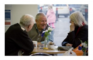 A group of people at De Café
