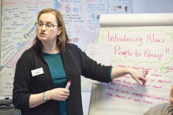 Gemma Graham facilitating