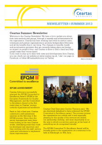 Ceartas Newsletter, Summer 2013