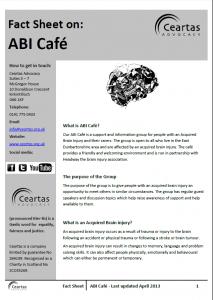 ABI Café Factsheet