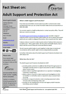 Adult Support & Protection Factsheet
