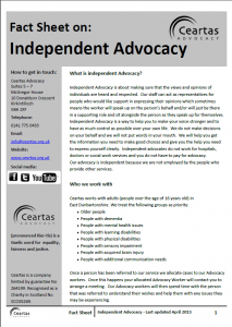 Independent Advocacy Factsheet
