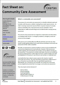 Community Care Assessment Factsheet