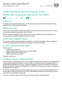 What is the Adults With Incapacity Act?