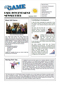 Still Game Newsletter - Summer 2013