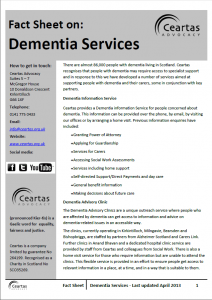 Dementia Services factsheet