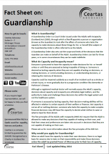 Guardianship Fact Sheet