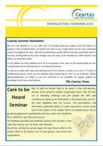 Ceartas Newsletter Summer 2014