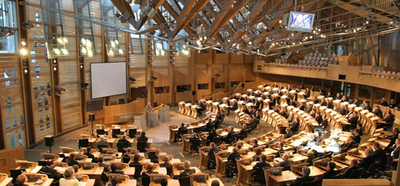 The Scottish Parliament chamber