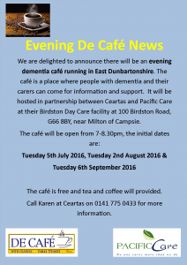 Evening De Cafe Flyer