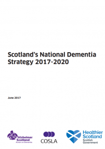 Scotland's National Dementia Strategy 2017 - 2020