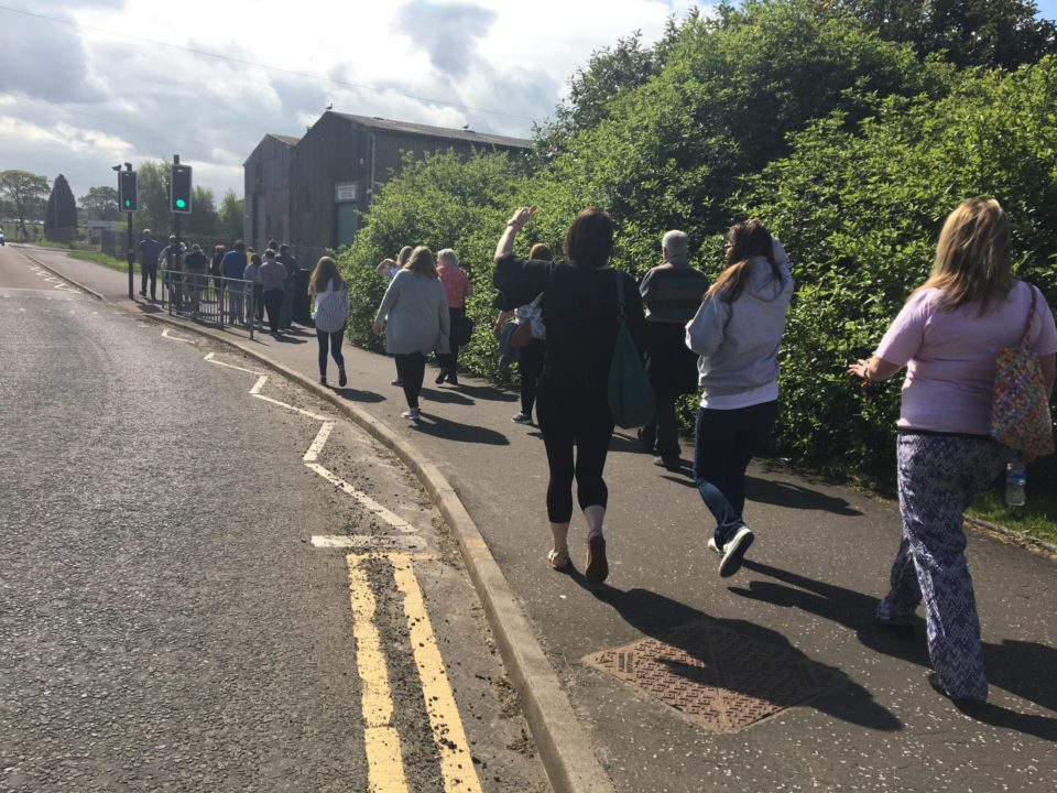 Walkers at the 2018 Walk a Mile event