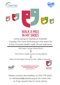 Walk a Mile poster with details of event