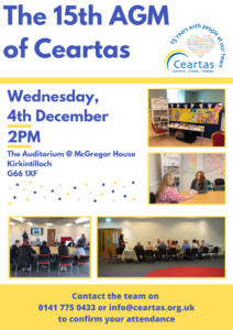 Ceartas 15th AGM poster