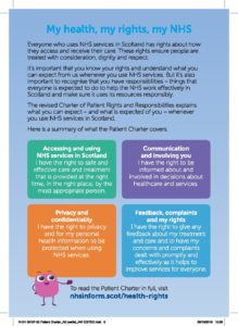 Patient Charter leaflet, page 2
