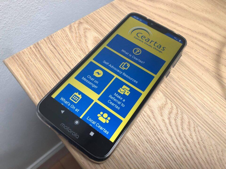 CCCC app on Motorola phone