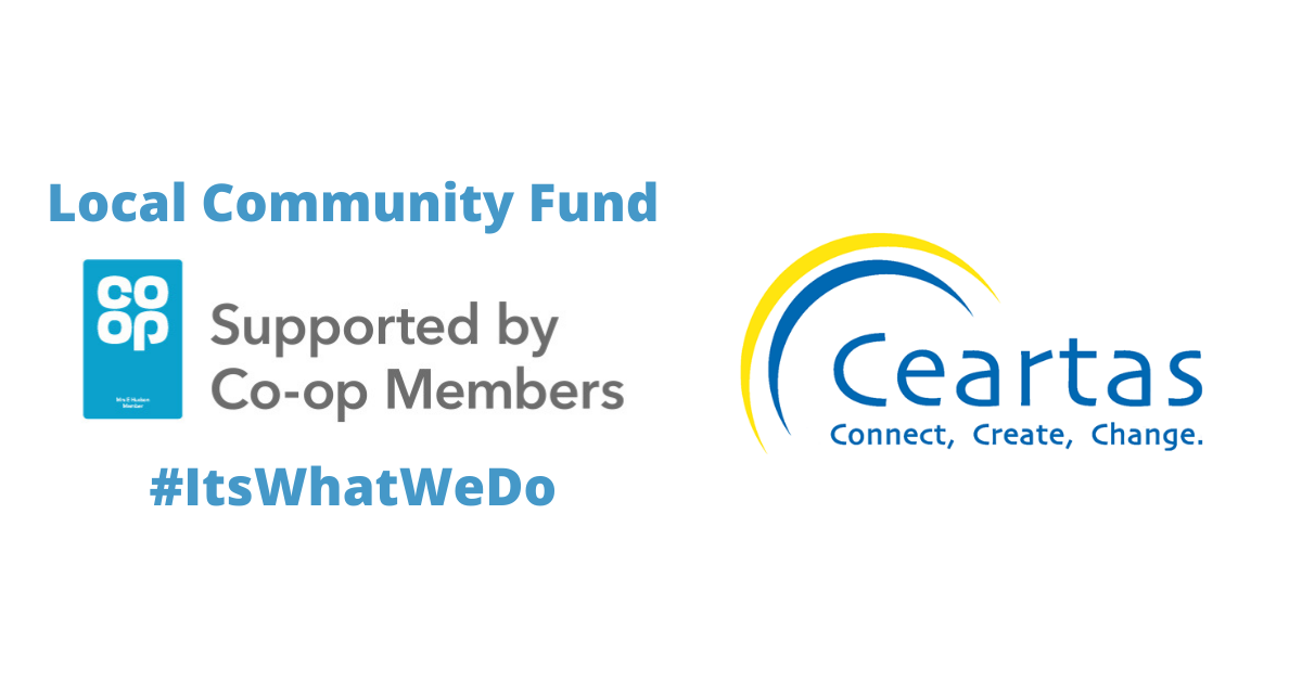 Coop Community fund logo with Ceartas logo