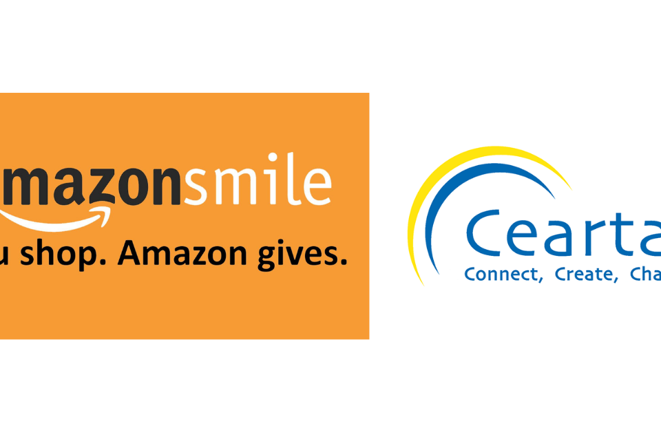 Amazon Smile & Ceartas logo header image
