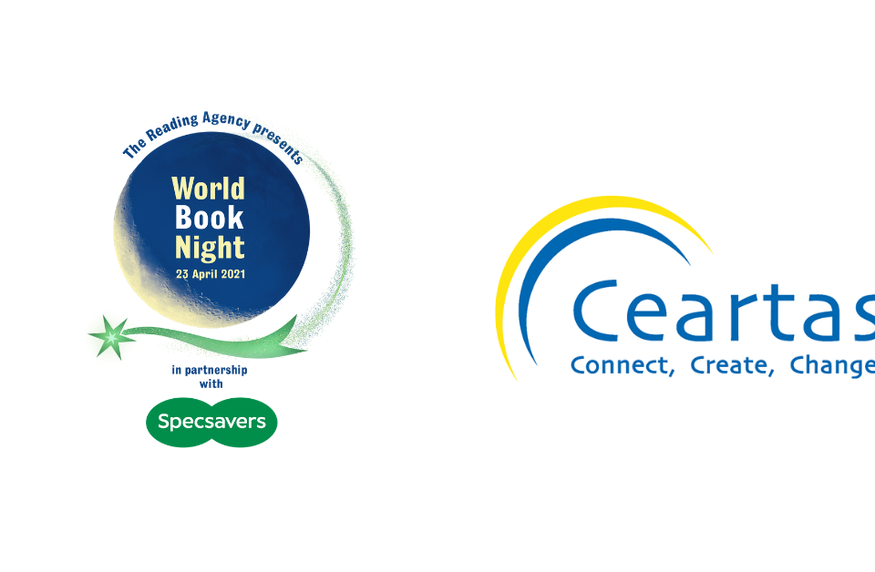 header image of Ceartas logo and World book night logo