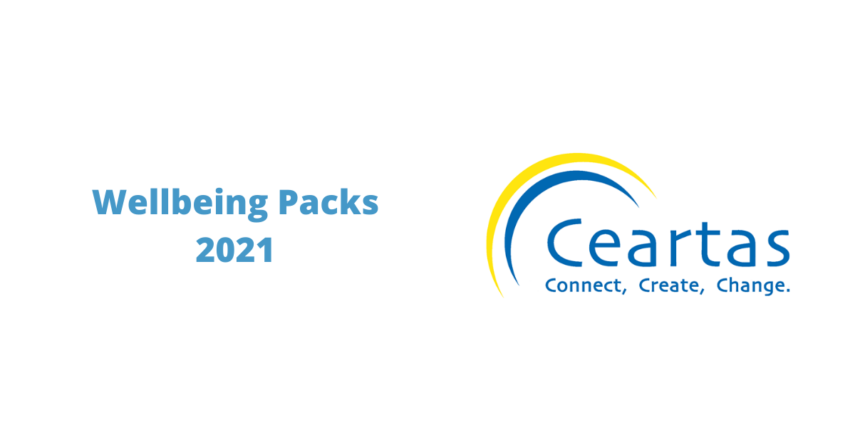 Wellbeing Packs 2021 and Ceartas logo